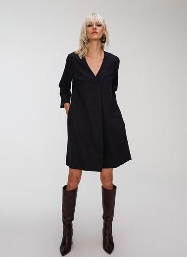 People By Fabrika Cepli Basic Elbise Siyah